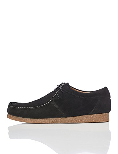 FIND Herren Wallabees Aus Veloursleder Schwarz (Black)