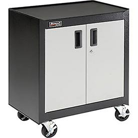 Homak GS04002270 2 Door Mobile Cabinet with Gliding Shelf, Steel by Homak