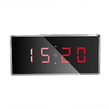 eyeCam ec11148 1080P Cámara, Espionaje Espejo espía Hidden Camera Reloj digital con detección de movimiento