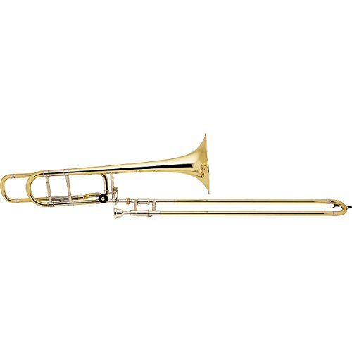 Bach 42BO Stradivarius Series F-Attachment Trombone Lacquer Gold Brass Bell Standard Slide