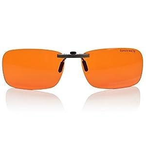 Clip-on Blue Blocking Amber Lenses for Sleep - BioRhythm Safe(TM) - Nighttime Eyewear - Special Orange Tinted Lenses Help You Sleep and Relax Your Eyes (Regular, Nighttime)