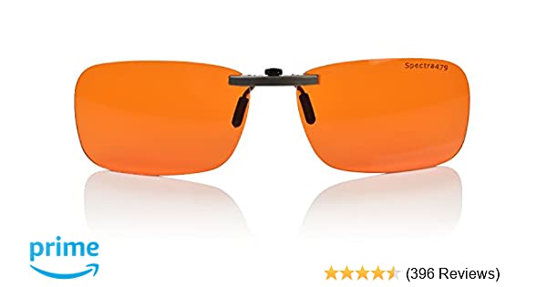 1827c4097c3c Amazon.com  Clip-on Blue Blocking Amber Lenses for Sleep - BioRhythm  Safe(TM) - Nighttime Eye Wear - Special Orange Tinted Lenses Help You Sleep  and Relax ...