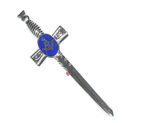 Masonic Kilt Pin Chrome Finish with Blue Boxed I Luv LTD iluvltd 18919