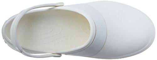 Crocs Mercy Work - Zuecos de goma Bianco (White/White)