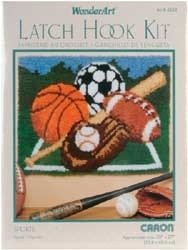 Sports Latch Hook (Latch Hook Kit - Sports by Caron)