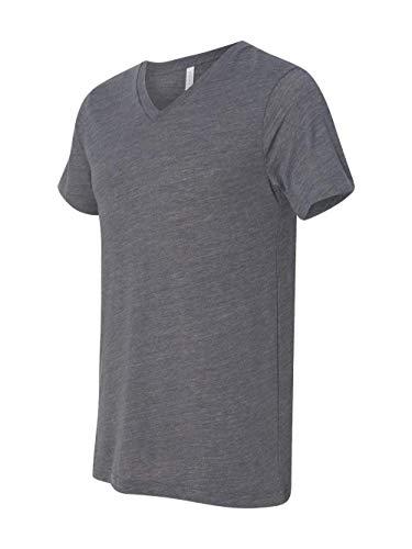 Bella mens Unisex Jersey Short-Sleeve V-Neck T-Shirt(3005)-ASPHALT ()
