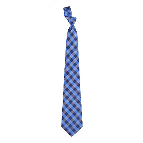 NFL San Diego Chargers Men's Woven Polyester Check Necktie, One Size, Multicolor