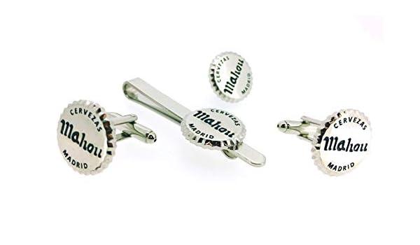 Pack Gemelos para Camisa - Pin de Solapa y Pasador de Corbata Chapa Cerveza: Amazon.es: Ropa y accesorios