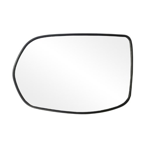 Fit System 88217 Honda CR-V Left Side Power Replacement Mirror Glass with Backing Plate - Honda Crv Replacement Driver