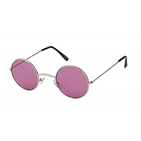 Lunettes de soleil rondes Lennon-style 400UV Métal Tonique Long Jetty Rouge Rose Violet geOkRbTs