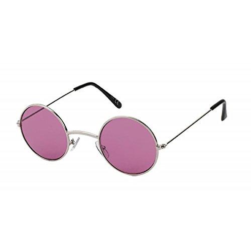 rondes Lunettes Rose Violet style Long nbsp;UV Jetty 400 Lennon Rouge de soleil Tonique Métal 7rwnOq7E