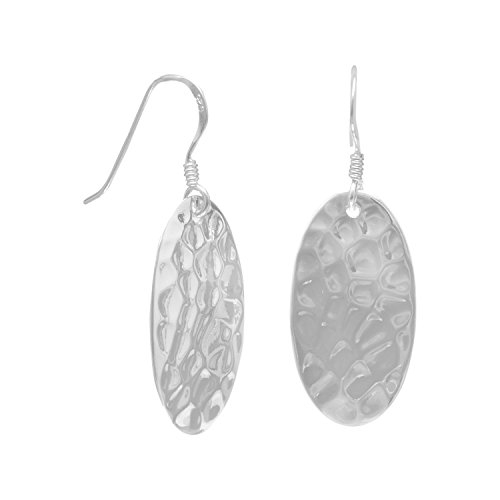 925 Sterling Silver Large Oval Hammered French Wire - French Hammered Sterling Wire Silver