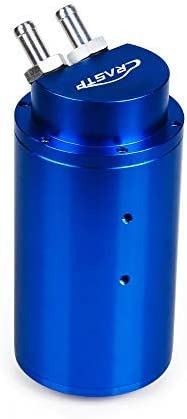 RASTP Universal Racing Car Aluminum Alloy 0.7L Round Reservoir Turbo Engine Oil Catch Tank Breather Can RS-OCC019 BLUE