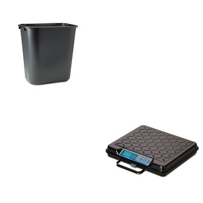 KITRCP295600BKSBWGP100 - Value Kit - Salter Brecknell Portable Electronic Utility Bench Scale (SBWGP100) and Rubbermaid-Black Soft Molded Plastic Wastebasket, 28 1/8 Quart (RCP295600BK)