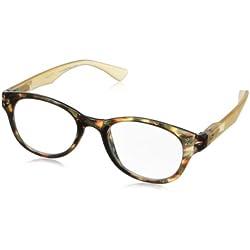 Peepers Show Stopper Retro Reading Glasses,tortoise/tan,+1.25