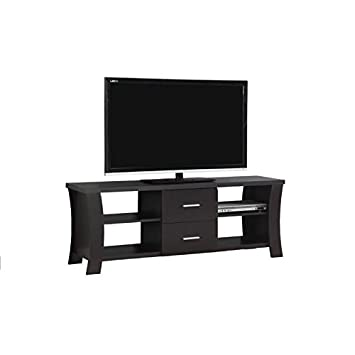 Monarch I 2683 TV Stand with 2 Drawers, 60 , Cappuccino