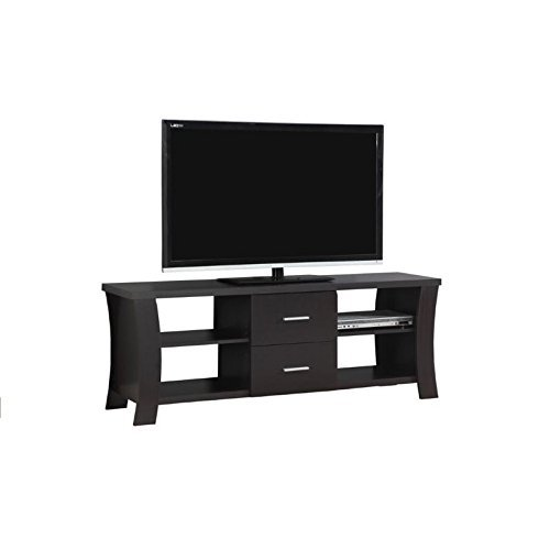 Monarch TV Stand with 2 Drawers, 60 , Cappuccino