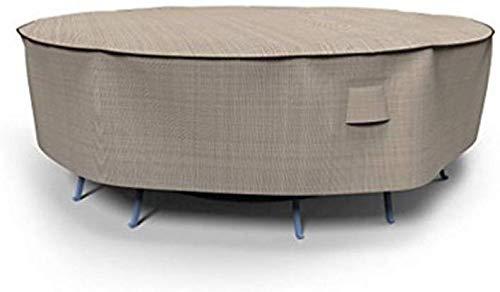 BONHEUR Muebles de jardín Cubre Mesa Redonda de jardín y Cubierta ...