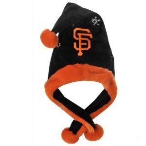 (SF Giants MLB Official Team logo stadium Dangle Santa Hat *NEW ITEM*)