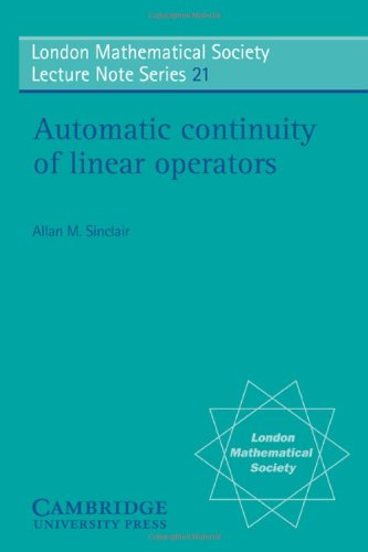 Automatic Continuity of Linear Operators (London Mathematical Society Lecture Note Series)