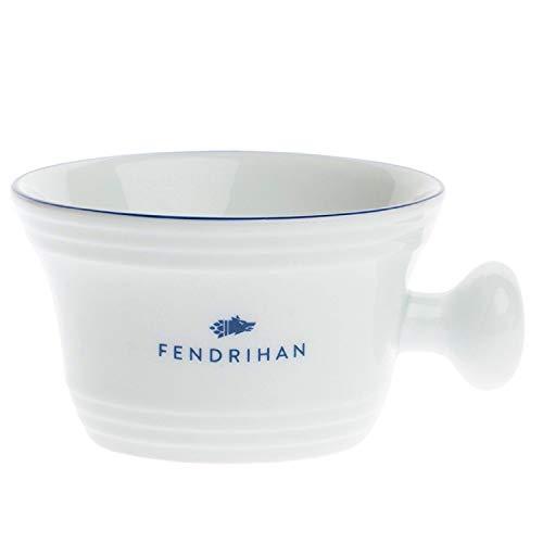- Fendrihan Porcelain Apothecary Shaving Mug, Hand-Painted Rim (Dark Blue)
