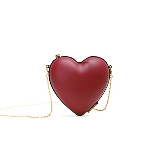 bolso de de Partido de corazón hermoso mujeres del Bolso o decoración verano personalidad de casero la 0 la 66LBS 0 de Red 3KG Color forma mini rojo en de Red las hombro nTIYYqv