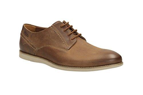 Clarks Franson Plain - Zapatos de cordones de Piel para hombre Marrón marrón