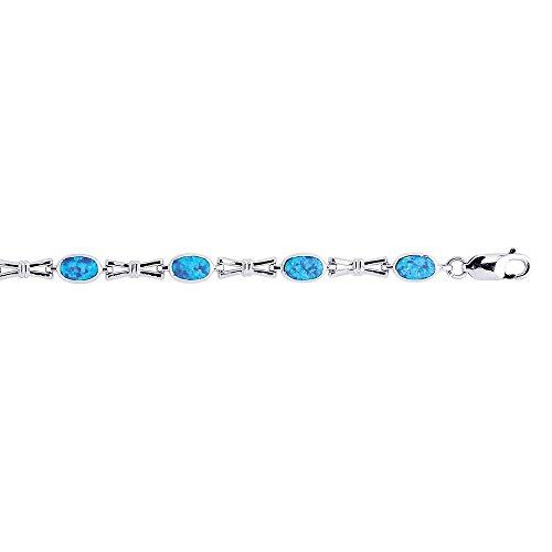 Argent sterling émail-Bracelet Femme-20cm