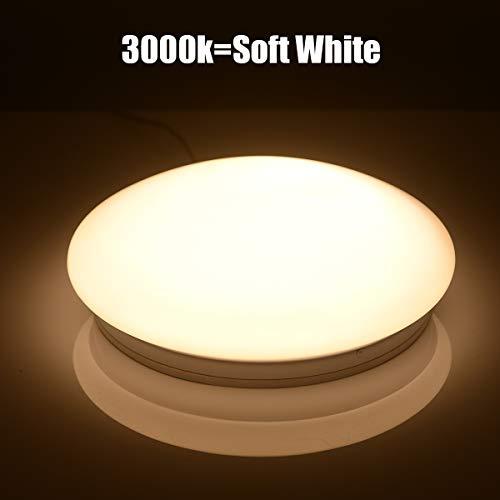 (10 inch Led Ceiling Light Fixture 3000K Soft White Lighting,100W Equivalent,1200 LM,Mushroom Shape,12W Flush Mount Led Ceiling Lights for Home, Foyers, Restroom, Closet, Attic, Basement, Garage)