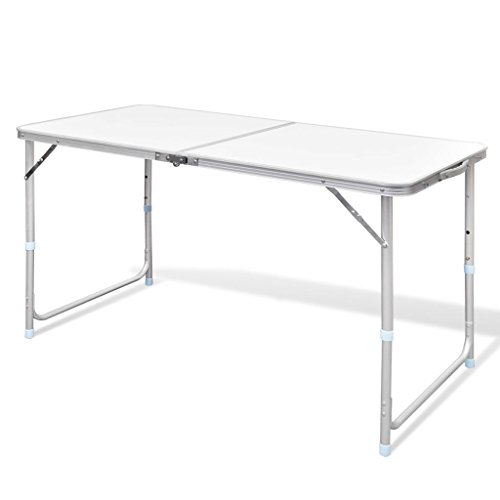 vidaXL Campingtafel Inklapbaar en Verstelbaar Aluminium Kampeertafel Tafeltje