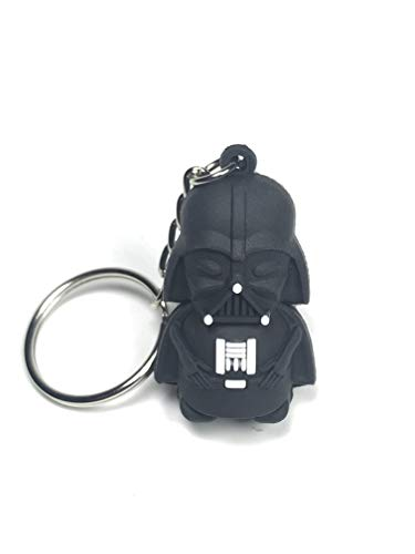 DeltaHalo | Darth Vader Keychain [Star Wars Darth Vader Keychain] Ultra-Light Rubber Darth Vader Keyring (Darth Vader)