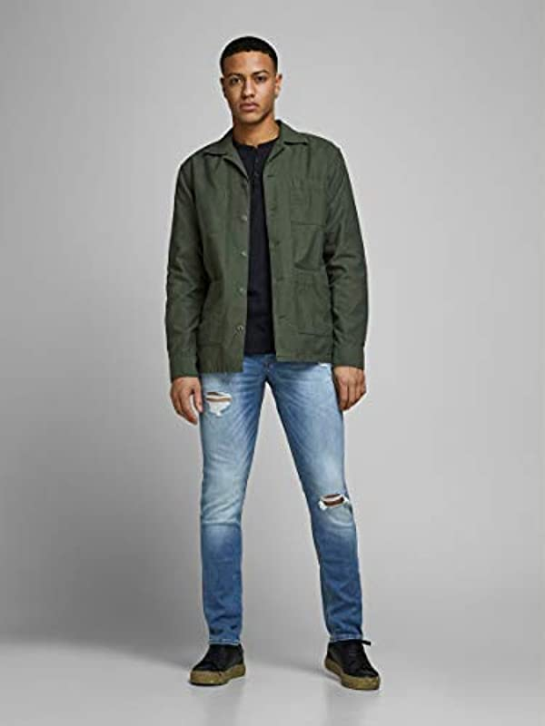 JACK & JONES Male Slim Fit Jeans Glenn Original GE 142 50SPS: Odzież