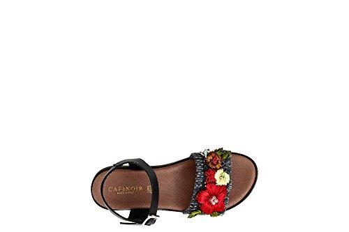 41 Fleurs Sandales Beige de Femme Noir Bracelet CAF Sable FB931 Fasca aZ8xv
