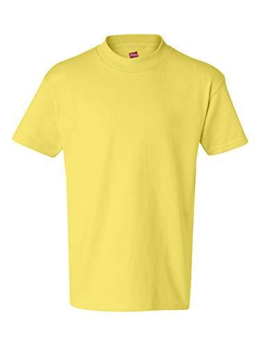 Price comparison product image Hanes boys Cotton T-Shirt(5450)-Yellow-L