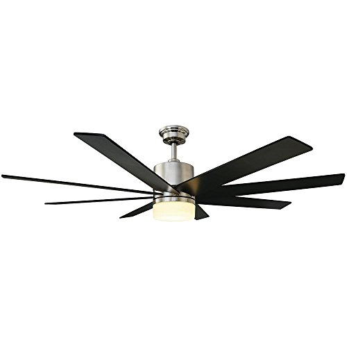 Home Decorators Collection 60 in. Zolman Pike LED DC Brushed Nickel Ceiling Fan with Remote