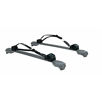 Image of Car Rack Accessories INNO XA445 Surf-Wind-Long Board Locking Roof Carrier for T-Slot Aero Base Racks - Holds (1) Kayak or (1) Canoe or (2) SUP)/Wind/Surf-Boards