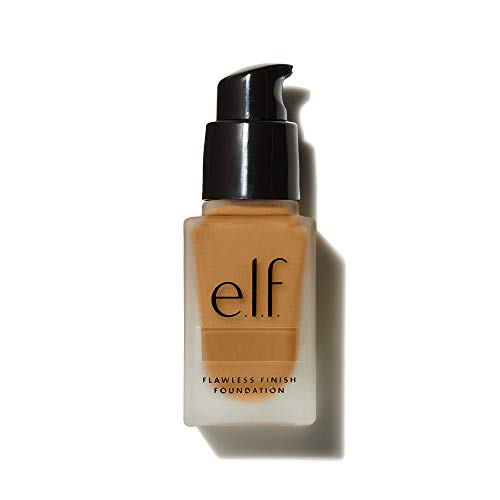 e.l.f, Flawless Finish Foundation, Lightweight, Oil-free formula, Full Coverage, Blends Naturally, Restores Uneven Skin Textures and Tones, Chai, Semi-Matte, SPF 15, All-Day Wear, 0.68 Fl Oz