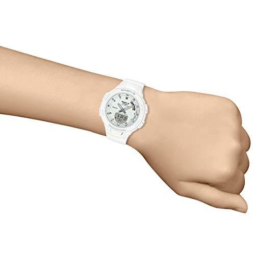 Casio Womens Quartz Watch, Analog-Digital Display and Resin Strap - BSA-B100-7ADR