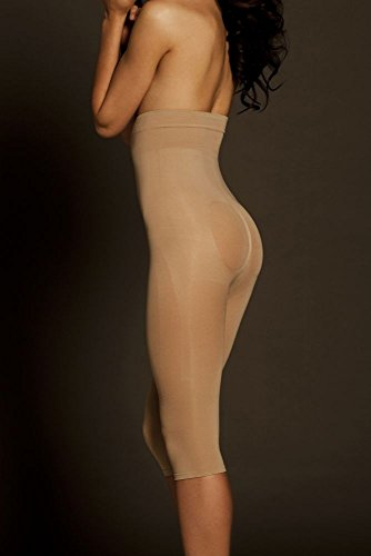 David's Bridal Body Wrap Seamless Catwalk High Waist Capri Style 44851, Nude, M