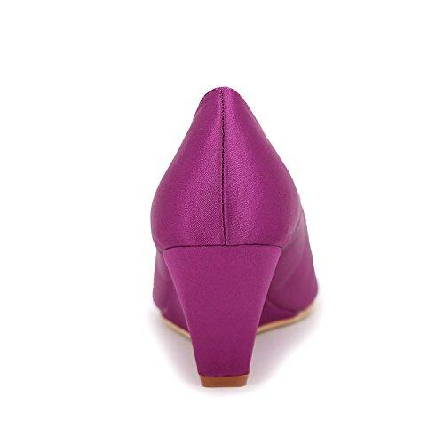 Zapatos Fiesta Boda Toe Sandalias De Blanco Peep yc Tacón L Mujer Noche Plata Y Rojo Alto Púrpura Blue Azul 581Hnq