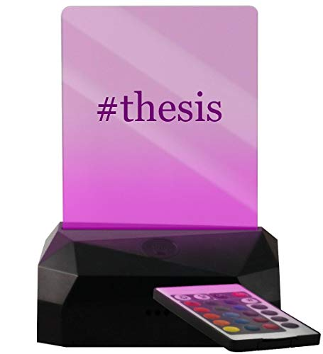 #Thesis - Hashtag LED USB Rechargeable Edge Lit Sign (Best Way To Write A Thesis)