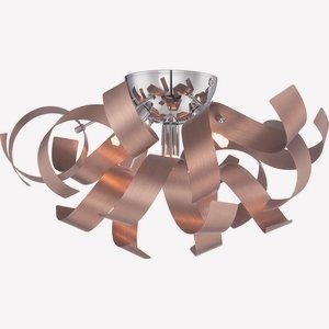 Quoizel RBN1616SG Ribbons Modern Flush Mount Ceiling Lighting 4-Light, Xenon 160 Watts, Satin Copper (8