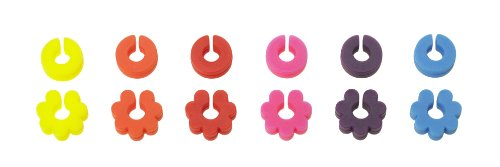 Lurch 210220 Glasmarkierer Fancy Rings 12er Set