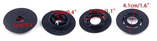 beler 4 paires de pinces de fixation pour tapis de sol pour voiture Boucle de fixation pour tapis de moquette 3D0864523B41