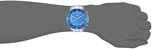 Invicta Men's 'Pro Diver' Quartz Stainless Steel Diving Watch, Color Silver-Toned (Model: 21890)