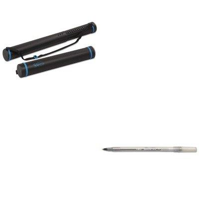 Safco Document Tube - KITBICGSM11BKSAF3053 - Value Kit - Safco Plastic Telescoping Document Tube (SAF3053) and BIC Round Stic Ballpoint Stick Pen (BICGSM11BK)