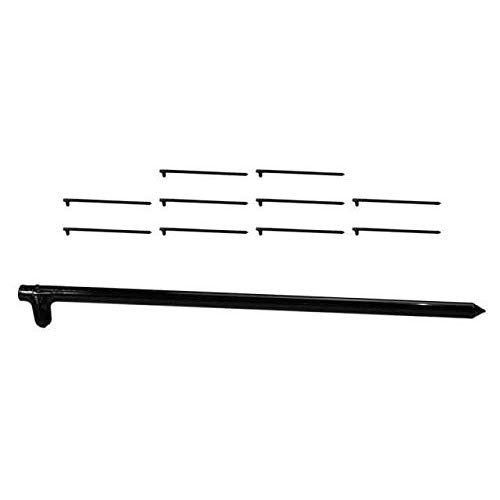 Monk Industries 5/8 Inch x 18 Inch Hot Forged Black Tent Stake 10 Pack by Monk Industries