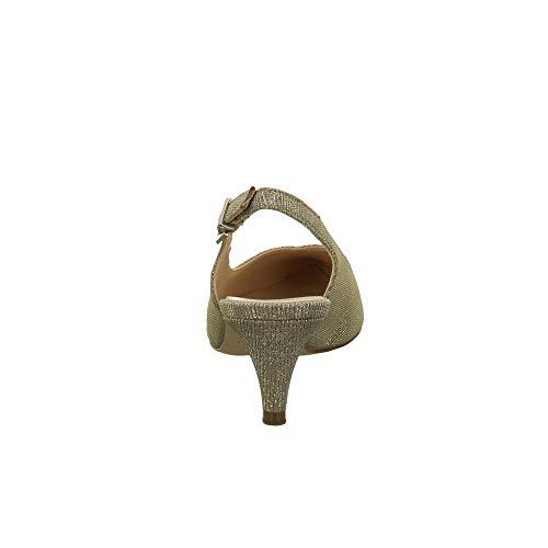 E scarpe comfort con Peter pelle Normal normal Tacon Kaiser 55393 Col Sand Shimmer Zapatos De anchura Tacco Caviglia slingback Ristella Alla Mujer sandali Cinturino Fit 778qwHT