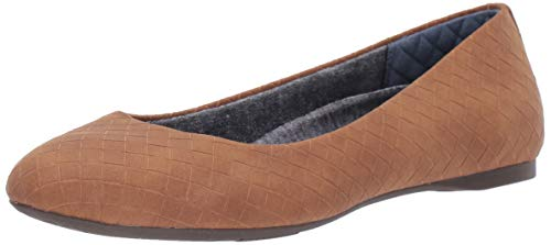- Dr. Scholl's Shoes Women's Giorgie Ballet Flat, Saddle Woven Embossed, 6.5 M US