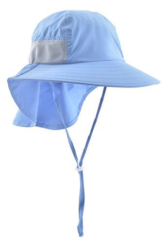 300b8629cfad93 Lenikis Kids Outdoor Activities UV Protecting Sun Hats with Neck Flap Blue  by Lenikis (Image